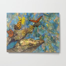 Even Crocodile Tears Need Butterfly Kisses Metal Print