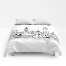 Glasgow City Skyline Comforters