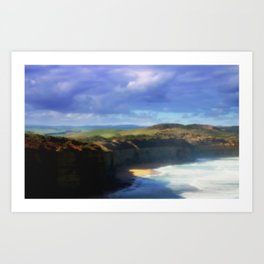 Our land is girt by Sea Art Print