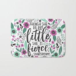 Little and Fierce Bath Mat
