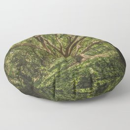 Old Green Tree Floor Pillow