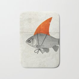 Goldfish with a Shark Fin Bath Mat