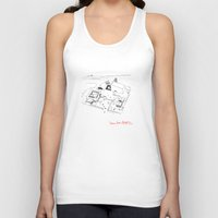 architect Tank Tops featuring Le Corbusier The Architect by Rothko