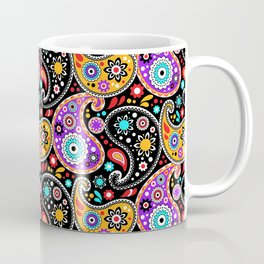 Boho Cowboy Colorful Bandana Paisley Coffee Mug