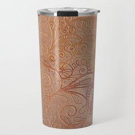 Floral copper Travel Mug