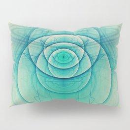 Egyptian Turquoise Scarab on Beige Sandstone Glyphs Pillow Sham