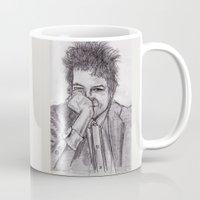 bob dylan Mugs featuring Bob Dylan by jamestomgray