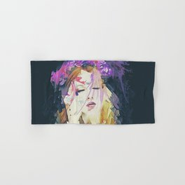 Path - Abstract Portrait Hand & Bath Towel