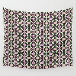 Hanami Nummies   Black Wall Tapestry