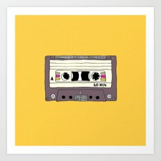 Polka dot cassette tape Art Print