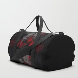 Polygon red black triangles . Duffle Bag