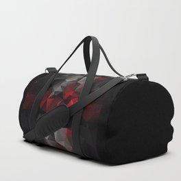 Polygon red black triangles . Duffle Bag
