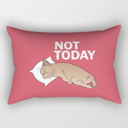 Lazy Frenchie Rectangular Pillow