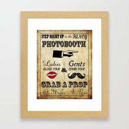 Vintage Photobooth Sign Framed Art Print