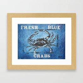 Fresh Blue Crabs Framed Art Print