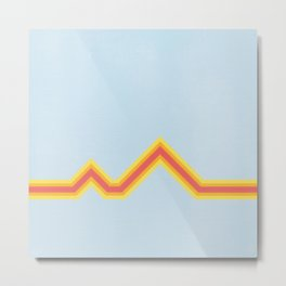 CAMP STRIPE Metal Print