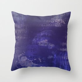 Sheet Music - Mixed Media Partiture #1 Throw Pillow