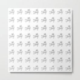 Hey Friday   [pattern, black] Metal Print