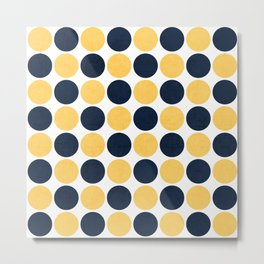 navy and yellow dots Metal Print