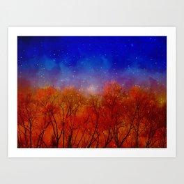 Night on fire Art Print