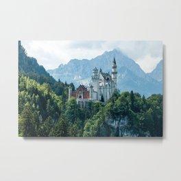 European Alps - Neuschwanstein castle Metal Print