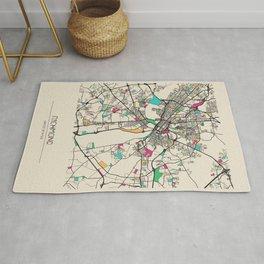 Colorful City Maps: Richmond, Virginia Rug