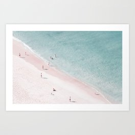 beach family love Art Print