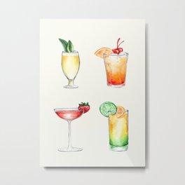 Cocktails 2 Metal Print