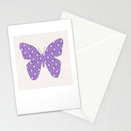 Lilac Lavender Lace Floral, Spring Flower Blossom Pattern Illustration Stationery Cards