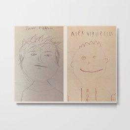 Jared and Alex Self-Portraits 2018 Metal Print