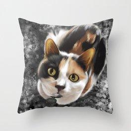 Cute Calico Throw Pillow