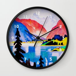 Davos Switzerland - Vintage Travel Wall Clock