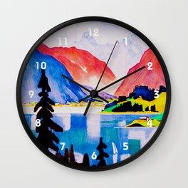 Davos Switzerland - Vintage Travel Wall Clock