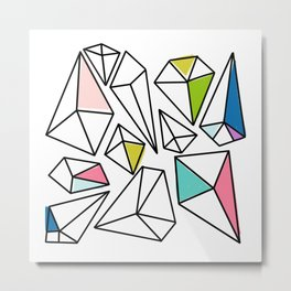Shine Bright | Colorful Geo Gems Metal Print