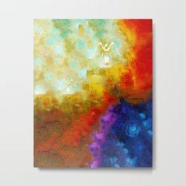 Angels Among Us - Emotive Spiritual Healing Art Metal Print