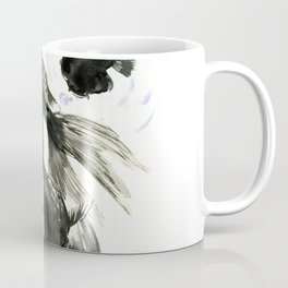 Black Moor, Feng Shui art, black fish zen painting Coffee Mug