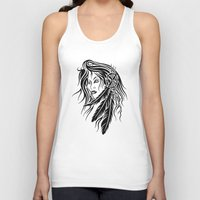 native american Tank Tops featuring Native American by JonathanStephenHarris
