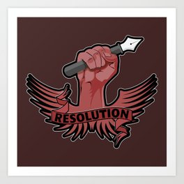 Viva la resolution! Art Print