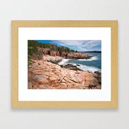 Acadia National Park - Thunder Hole Framed Art Print