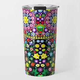 Owl Zentangle Floral   Travel Mug