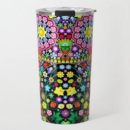 Owl Zentangle Floral   Travel Mug