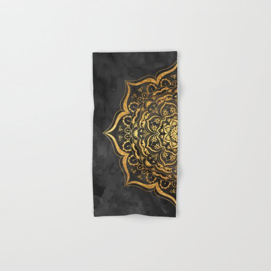 Gold Mandala Hand & Bath Towel