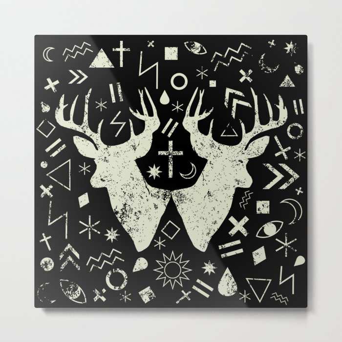 Punk pattern Metal Print