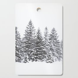 BLACK WINTER TREES Cutting Board