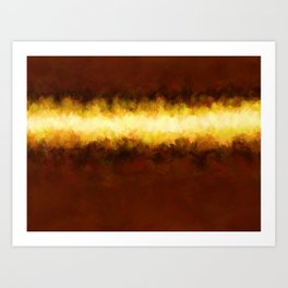 Liquid Gold Sunbeam with Burnished Bronze Art Print