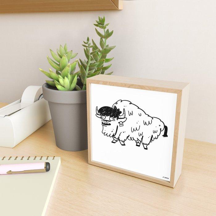 BUFFALO Framed Mini Art Print