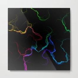 fractal marble space - dark Metal Print