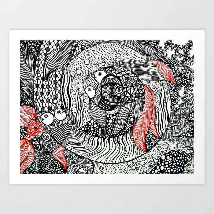 FishBowl   Limited Edition of 50 Prints Art Print
