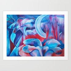 Flora Moon Art Print