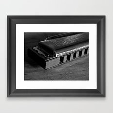 Black, White, & the Blues Framed Art Print
